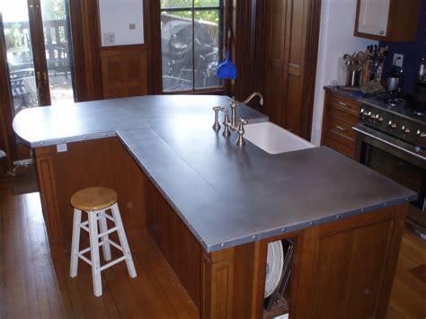 zinc kitchen island zinc countertops custom 1241