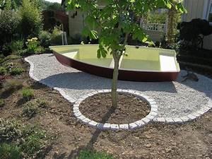 Cailloux Pour Cour : idees de jardin avec des galets cheap idees deco jardin ~ Premium-room.com Idées de Décoration