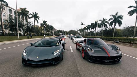 200+world's Greatest Supercars Blasting By. Pagani
