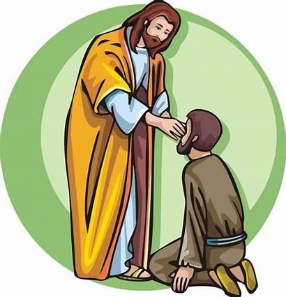 Jesus Blind Healing Sick Heals Clipart Bartimaeus