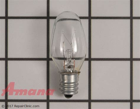 light bulb w10857122 amana replacement parts