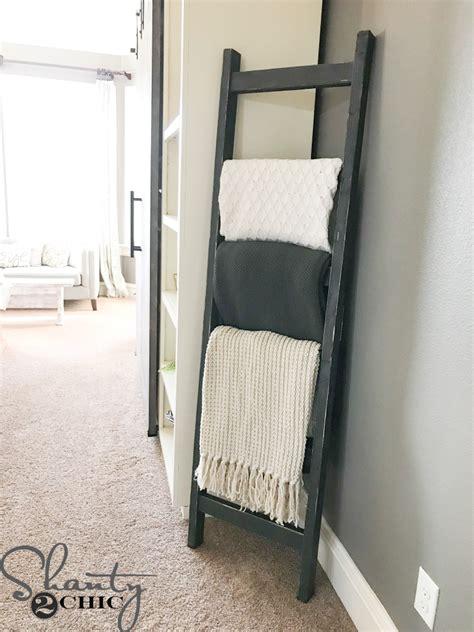 Modern Chic Living Room Ideas - diy 7 rustic blanket ladder shanty 2 chic