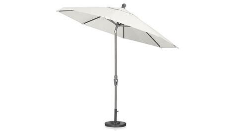 9 sunbrella 174 white sand patio umbrella with tilt