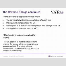 Back To Basics Vat Invoicing & The Reverse Charge