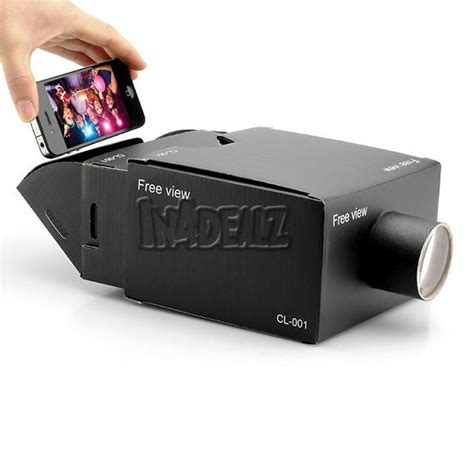diy iphone projector portable cardboard diy mobile phone projector for android