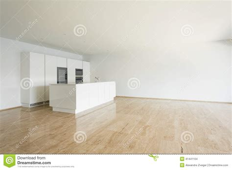 vid cuisine bel appartement vide cuisine blanche photo stock image