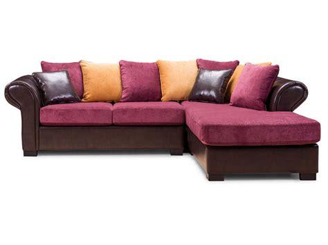 canapé d angle multicolore canapé d 39 angle fixe 6 places en tissu bali coloris