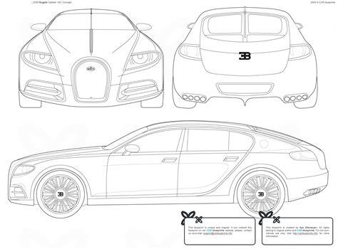 Bugatti Veyron Blueprint by Sports Car News Blueprints
