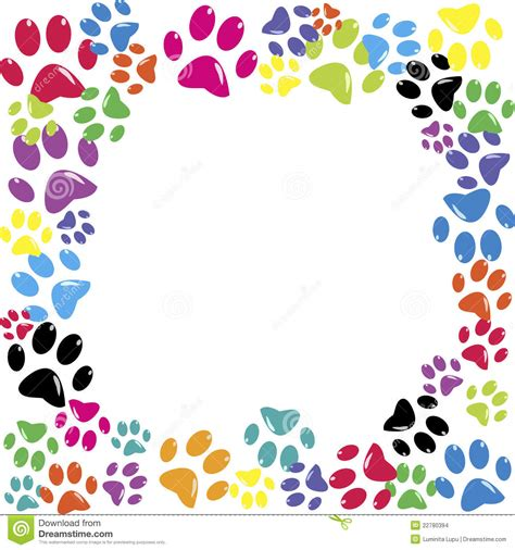 Animal Frame Wallpaper - frame made of animal paws stock images image 22780394
