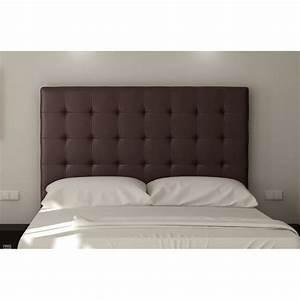 Tete Lit Capitonnée : sogno t te de lit capitonn e simili marron l 180 cm ~ Premium-room.com Idées de Décoration