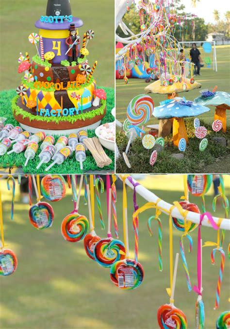 Kara's Party Ideas Willy Wonka Chocolate Factory Candy
