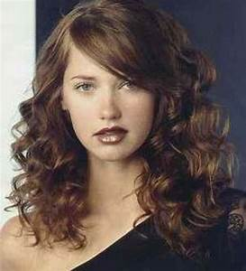 Curly Hairstyle With Side Bangs | Beauty | Pinterest