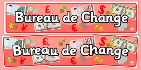 bureau de change display banner travel agent holiday