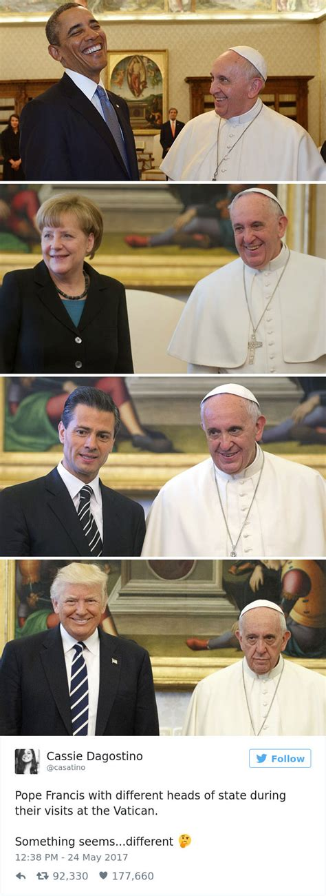 Pope Francis Memes - 10 of the funniest reactions to super sad pope meeting the trumps bored panda
