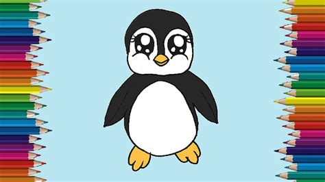Creating a perfect penguin couldn't be easier with our four easy steps. How to draw a baby penguin cute and easy - Penguin cartoon ...