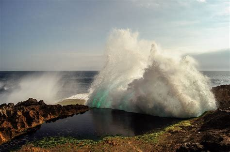 waves hitting rocks  stock photo public domain pictures