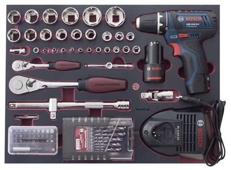 bosch profi akkuschrauber kraftwerk 3949 werkzeugkoffer mit bosch schrauber