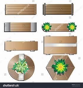 Outdoor Furniture, Bench Top View For Landscape Design Set ...