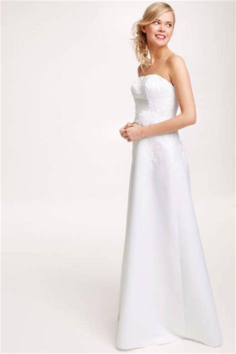 robe de mariee bustier en satin blanc modele calycia