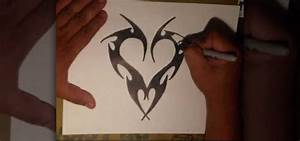 How to Draw an edgy tattoo heart by Wizard « Graffiti ...