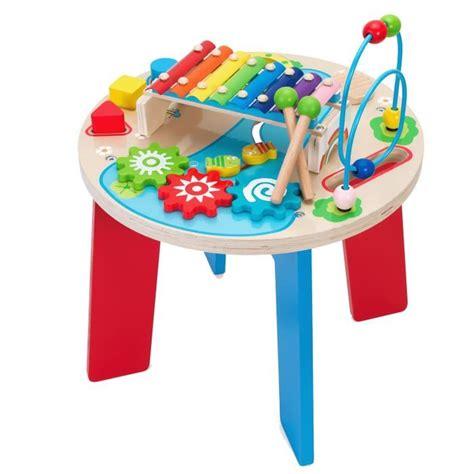 table d eveil en bois table en bois multiactivit 233 s achat vente table jouet d activit 233 cdiscount