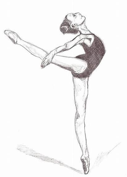 Dancer Ballet Ballerina Drawing Pencil Easy Sketch