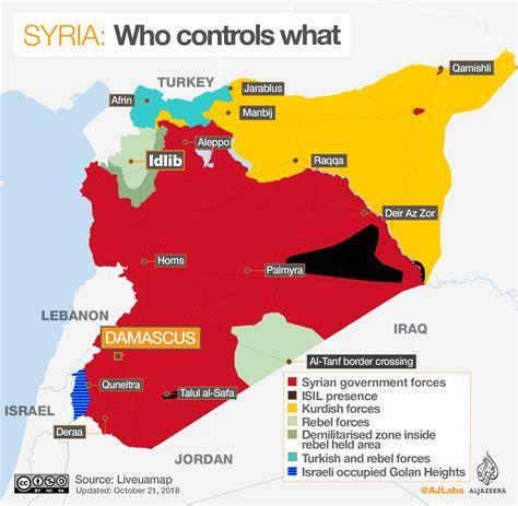 syrias war  controls  al jazeera