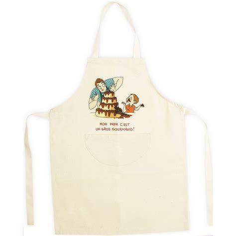 cuisine de papa tablier de cuisine enfant beige en coton papa gourmand 4 6 ans