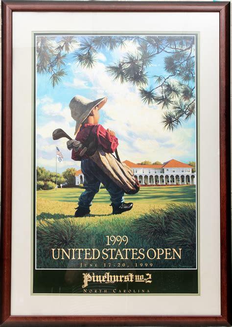 open golf color poster  pinehurst  north