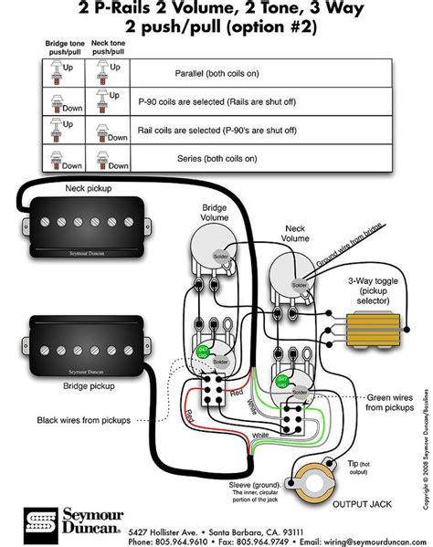 seymour duncan p rails wiring  humbucker   guitar pickups guitar parts guitar diy