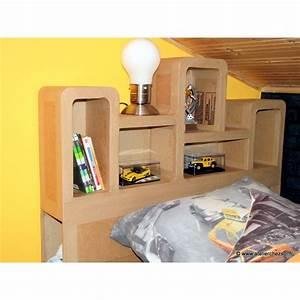 Tete De Lit 1 Personne : patron meuble en carton t te de lit haustin 1 personne de l 39 atelier chez soi ~ Teatrodelosmanantiales.com Idées de Décoration