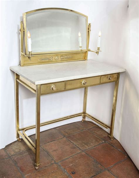 table top vanity masion jansen neoclassical style marble top mirrored