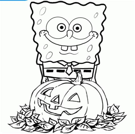 Spongebob Halloween Coloring Pages Coloring Home