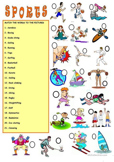 Vocabularysports Worksheet  Free Esl Printable Worksheets Made By Teachers