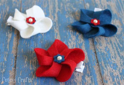 diy   july hair bows cutesy crafts