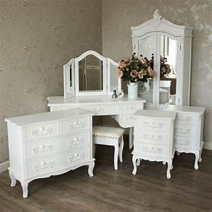 white bedroom furniture set wardrobe bedside dressing With bedroom furniture sets with dressing table
