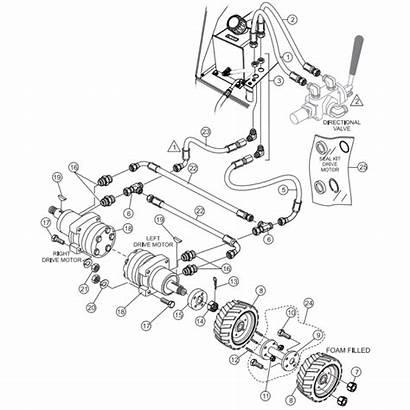 Buggy Power Multiquip Hydraulic 16ef Wbh Drive