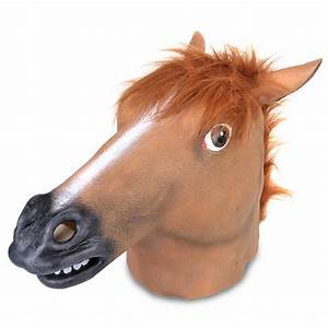 Horse Head Mask Creepy Animal Halloween Costume Theater ...