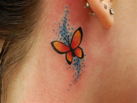 beautiful butterfly tattoos  neck inspiringmesh