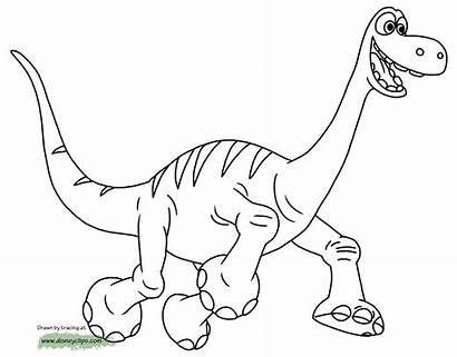 Coloring Dinosaur Pages Arlo Disneyclips