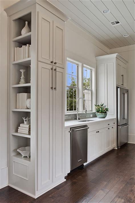 kitchen cabinet side shelves kitchen with built in cookbook shelves transitional 5765