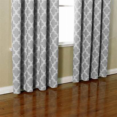 Curtains Grommet Window Moroccan Blackout Gray Darkening