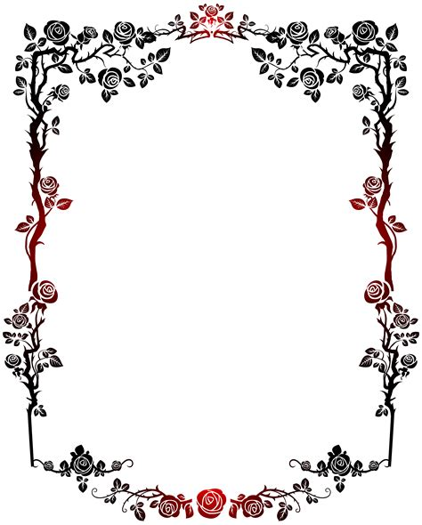 clipart frame frame clipart decorative pencil and in color frame