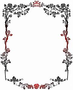 Frame clipart decorative - Pencil and in color frame ...