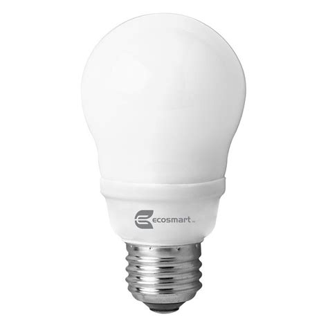 cfl light bulb ecosmart 60w equivalent bright white 3500k a19 cfl light