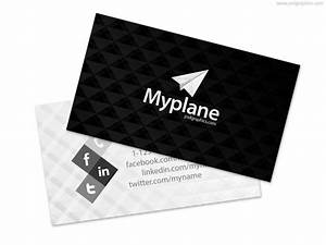 50 best free psd business card templates for commercial use for Black and white business card template