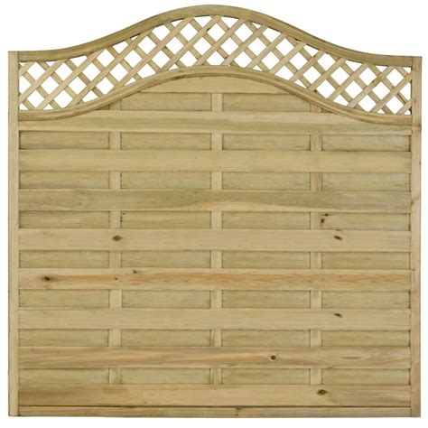 Decorative Garden Fence Panels by Our Pressure Treated Fence Panel A Decorative