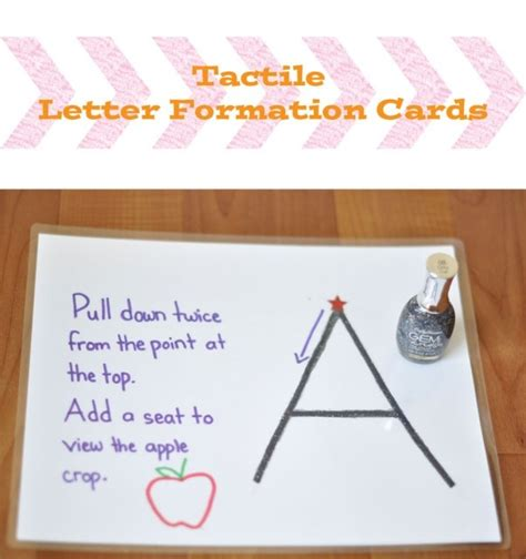 prewriting activity tactile letter formation cards