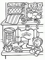 Coloring Toy Toys Pages Colouring Christmas Workshop Template sketch template