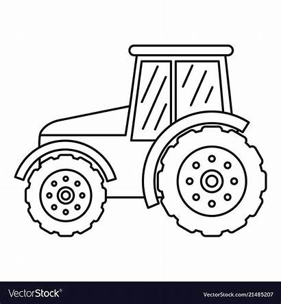 Tractor Outline Drawing Icon